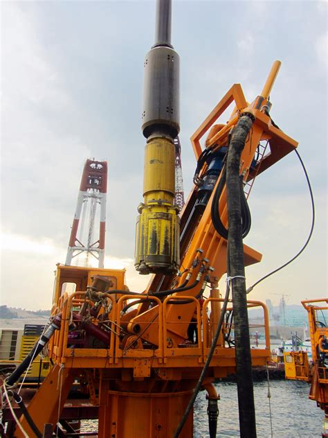 Atlas Copco Cluster Drill used for building pier in South