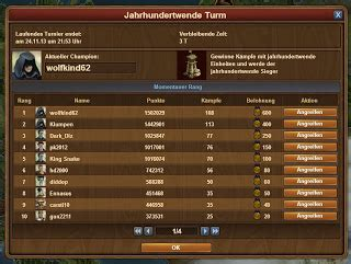 Forge of Empires Turniere PvP