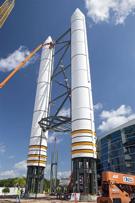 Space shuttle Atlantis' payload bay swung open for display