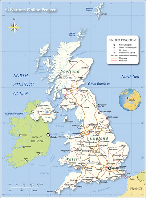 Political Map of the United Kingdom - Nations Online Project