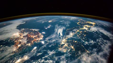 Hypnotising video from space shows lightning strikes and