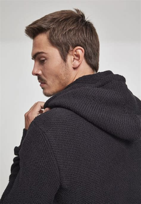 Straight sweater in woven fabric - Hoodies - Mens