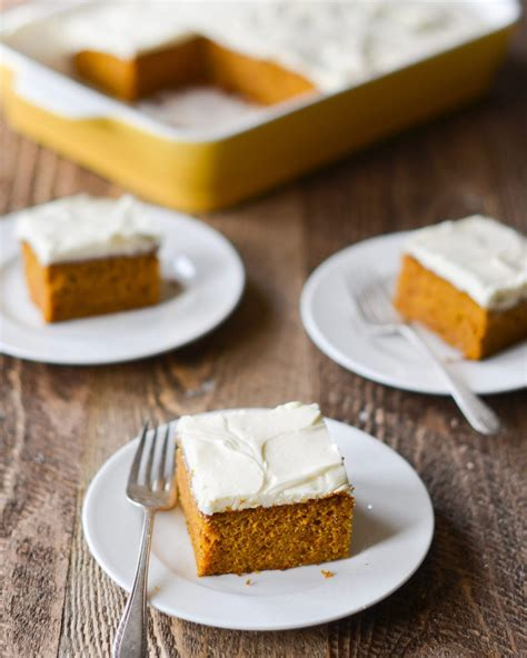 Pumpkin Cake with Cream Cheese Frosting - Once Upon a Chef