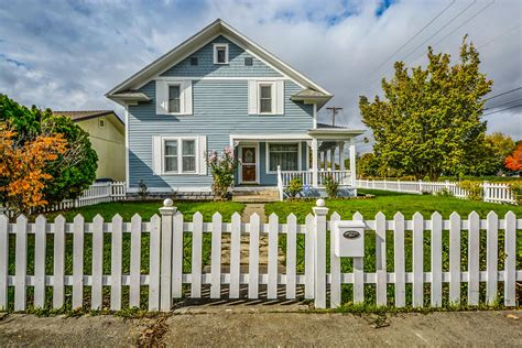 Free Images : real estate, home, house, picket, fence