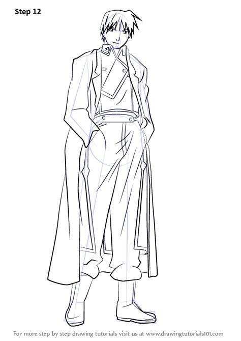 Learn How to Draw Roy Mustang Full Body from Fullmetal