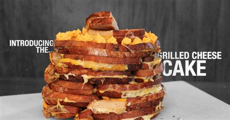 Three-tier Cake out of Grilled Cheeses - Thrillist San
