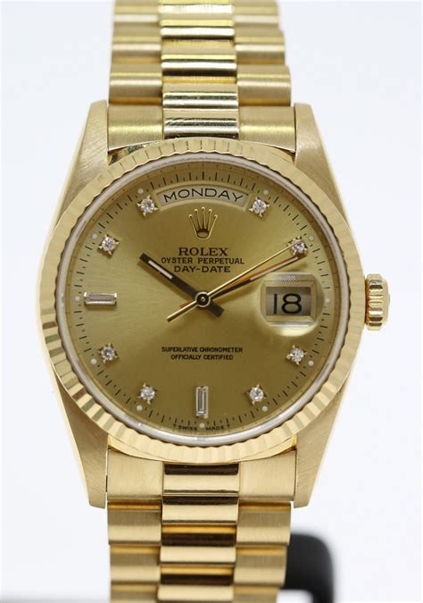 Rolex Oyster Perpetual Day-Date in 18ct Yellow Gold Ref