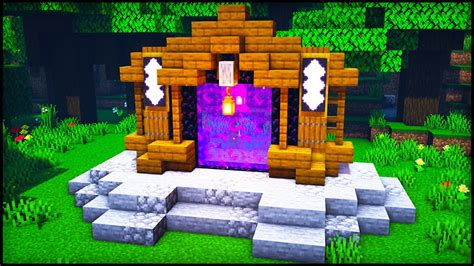 Minecraft Nether Portal Design : How to build a Cool