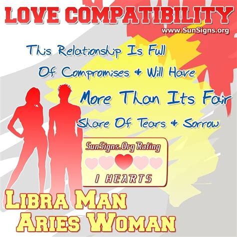 Libra Man And Aries Woman Love Compatibility   Sun Signs