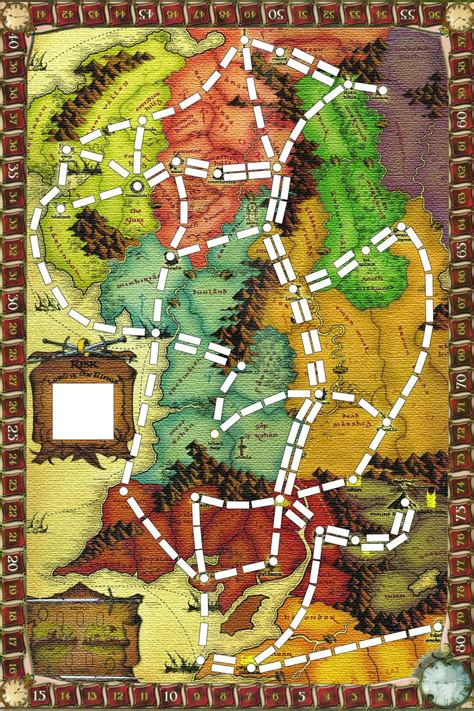 Ticket to Ride Middle Earth | Ticket to ride, Fun board