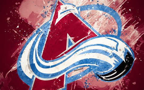 Download wallpapers Colorado Avalanche, 4k, grunge art
