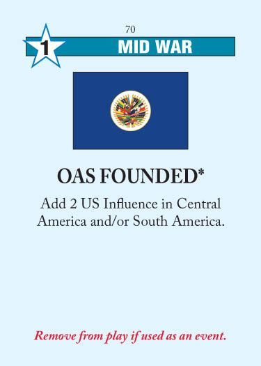 OAS Founded   Twilight Strategy