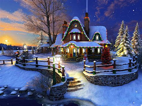 Holidays 3D Screensavers - White Christmas - An amazing 3D