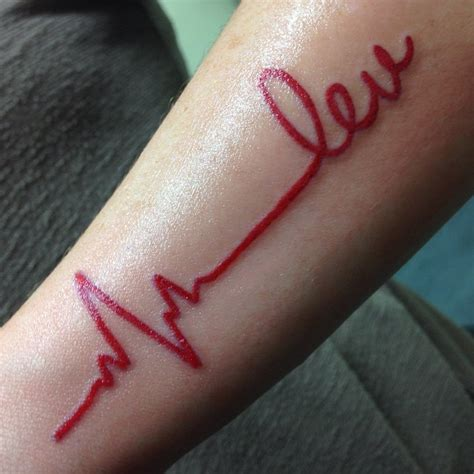 Heartbeat Tattoos Designs, Ideas and Meaning   Tattoos For You