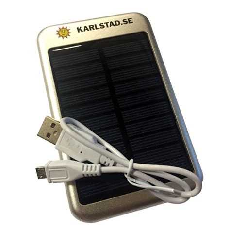 Powerbank med solcell 4gb