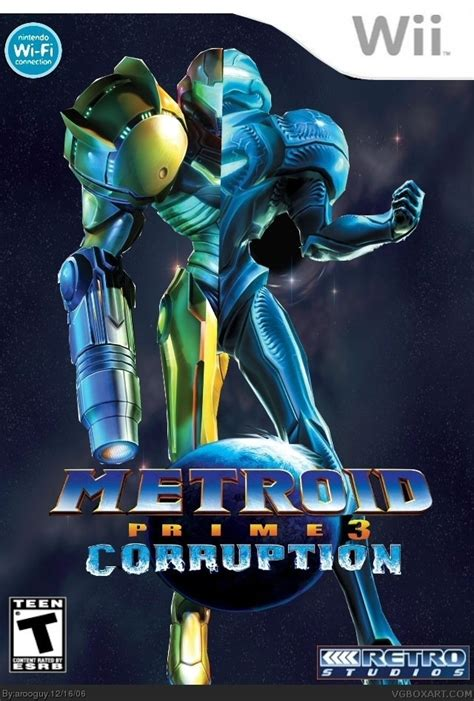 Metroid Prime 3: Corruption Wii Box Art Cover by arooguy