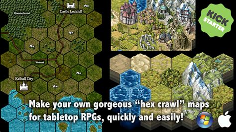 Hex Tile content Add-Ons for MapForge map-making software