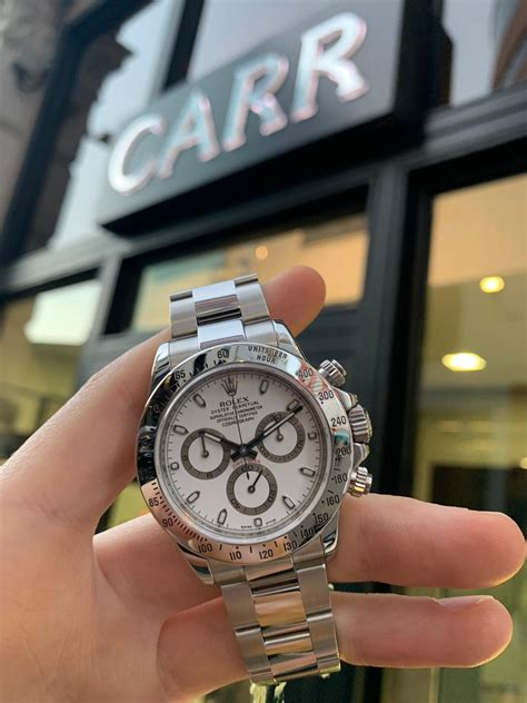 ROLEX COSMOGRAPH DAYTONA 116520 STAINLESS STEEL - Carr Watches