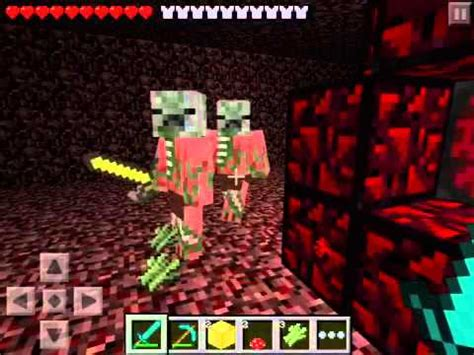 How to go to hell on minecraft pe ( nether portal ) - YouTube
