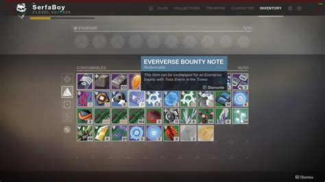 How to Get Eververse Bounty Notes in Destiny 2