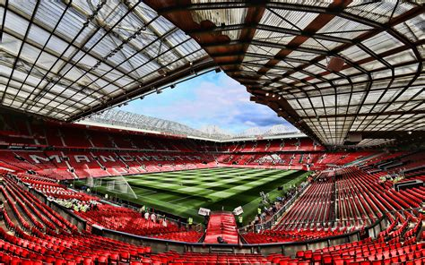 Download wallpapers Manchester United Stadium, 4k, soccer