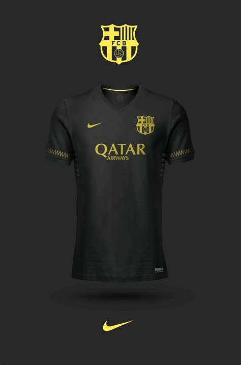 Old concept: Black third kits, player signature below the